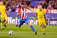 Atletico de Madrid's player Yannick Carrasco and CF Rostov's player Timofei Kalachev during a match of UEFA Champions League at Vicente Calderon Stadium in Madrid. November 01, Spain. 2016. (ALTERPHOTOS/BorjaB.Hojas)