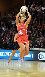 England's Chelsea Pitman against New Zealand in the Taini Jamison Trophy netball series match at Te Rauparaha Arena, Porirua, New Zealand, Thursday, September 07, 2017. Credit:SNPA / Ross Setford  **NO ARCHIVING**