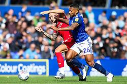 Josh Brownhill of Bristol City takes on David Davis of Birmingham City - Mandatory by-line: Robbie Stephenson/JMP - 10/08/2019 - FOOTBALL - St Andrew's Stadium - Birmingham, England - Birmingham City v Bristol City - Sky Bet Championship