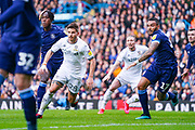 Leeds United defender Gaetano Berardi (28) and Huddersfield Town defender Danny Simpson (17) in action during the EFL Sky Bet Championship match between Leeds United and Huddersfield Town at Elland Road, Leeds, England on 7 March 2020.