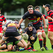 Premier rugby union game played between <br /> Paremata-Plimmerton v Poneke, on 12 May 2018, at Ngatitoa Domain, Mana, New  Zealand.    Paremata-Plimmerton won 25-11.