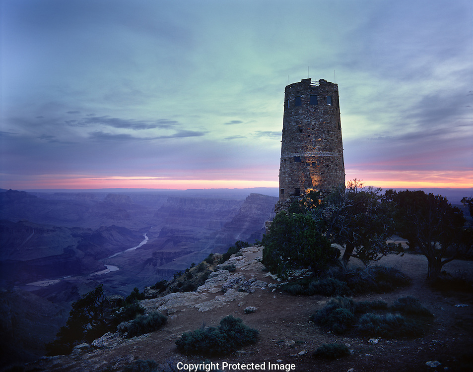 Desert View, Watchtower, Colorado River, sunrise, Grand Canyon, National Park, AZ