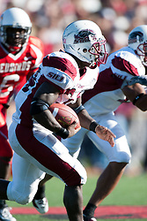14 October 2006: Arkee Whitlock.&#xD;The 6th largest crowd at Hancock Stadium came to watch a game that put 8th ranked Southern Illinois Salukis against 5th ranked Illinois State University Redbirds.  The Redbirds stole the show for a Homecoming win by a score of 37 - 10. Competition commenced at Hancock Stadium on the campus of Illinois State University in Normal Illinois.<br />