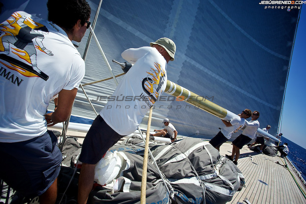 MENORCA MAXI 2014, on board J Class Hanumann© Jesus Renedo