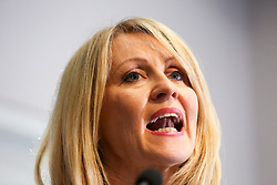 "© Licensed to London News Pictures. 10/06/2019. London, UK. Esther McVey MP, candidate for the leadership of the Conservative Party and to become Prime Minister speaks at the Bruges Group's ""Brexit Leadership"" event in Westminster. The Bruges Group is a think tank based in the UK, it advocates for a restructuring of Britain's relationship with the European Union and other European countries. Photo credit: Dinendra Haria/LNP"