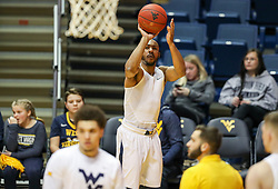 Jan 9, 2018; Morgantown, WV, USA; West Virginia Mountaineers guard Jevon Carter (2) warms up before their game against the Baylor Bears at WVU Coliseum. Mandatory Credit: Ben Queen-USA TODAY Sports