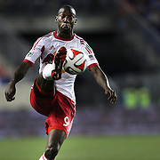 Bradley Wright-Phillips, New York Red Bulls, in action during the New York Red Bulls Vs Chicago Fire, Major League Soccer regular season match at Red Bull Arena, Harrison, New Jersey. USA. 10th May 2014. Photo Tim Clayton