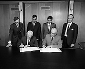 1970 - Signing Contract At Jacobs Biscuits.  D535.