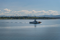 Lummi Island Ferry, Mount Baker in the distance, Washington