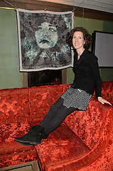 Artist PAM GLEW at a reception to launch an exclusive auction of hand-painted silk scarves by some of the UK's hottest designers in aid of Save The Children by Mary's Living & Giving shops, held at the May Fair Hotel, Stratton Street, London on 12th February 2014,