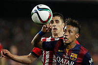 Barcelona´s Neymar Jr (R) during 2014-15 Copa del Rey final match between Barcelona and Athletic de Bilbao at Camp Nou stadium in Barcelona, Spain. May 30, 2015. (ALTERPHOTOS/Victor Blanco)
