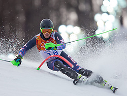 22.02.2014, Rosa Khutor Alpine Resort, Krasnaya Polyana, RUS, Sochi, 2014, Slalom, Herren, 1. Durchgang, im Bild Ted Ligety (USA) // Ted Ligety of the USA in action during the 1st run of mens Slalom to the Olympic Winter Games Sochi 2014 at the Rosa Khutor Alpine Resort, Krasnaya Polyana, Russia on 2014/02/22. EXPA Pictures © 2014, PhotoCredit: EXPA/ Johann Groder