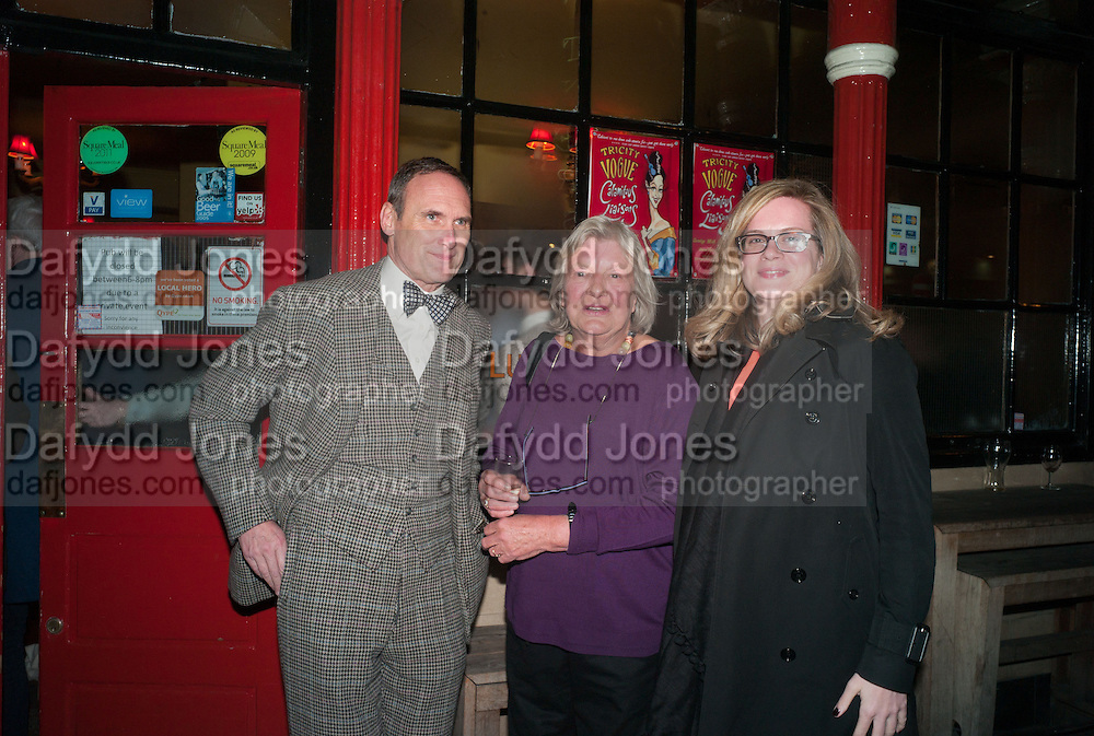 A.A. GILL; LYNN BARBER; CAMILLA LONG, The Omnivore hosts the third Hatchet  Job of the Year Award. Sponsored by the Fish Society.  The Coach and Horses. Greek st. Soho. London. 11 February 2014.