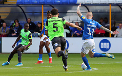 Marcus Maddison of Peterborough United scores his sides opening goal of the game against AFC Wimbledon - Mandatory by-line: Joe Dent/JMP - 28/09/2019 - FOOTBALL - Weston Homes Stadium - Peterborough, England - Peterborough United v AFC Wimbledon - Sky Bet League One