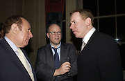 Andrew Neil, Bret Easton Ellis and Toby Young. Party for Bret Easton Ellis's book 'Lunar Park'  given by Geordie Greig. Home House. Portman Sq. London.  London. 5 October 2005. . ONE TIME USE ONLY - DO NOT ARCHIVE © Copyright Photograph by Dafydd Jones 66 Stockwell Park Rd. London SW9 0DA Tel 020 7733 0108 www.dafjones.com