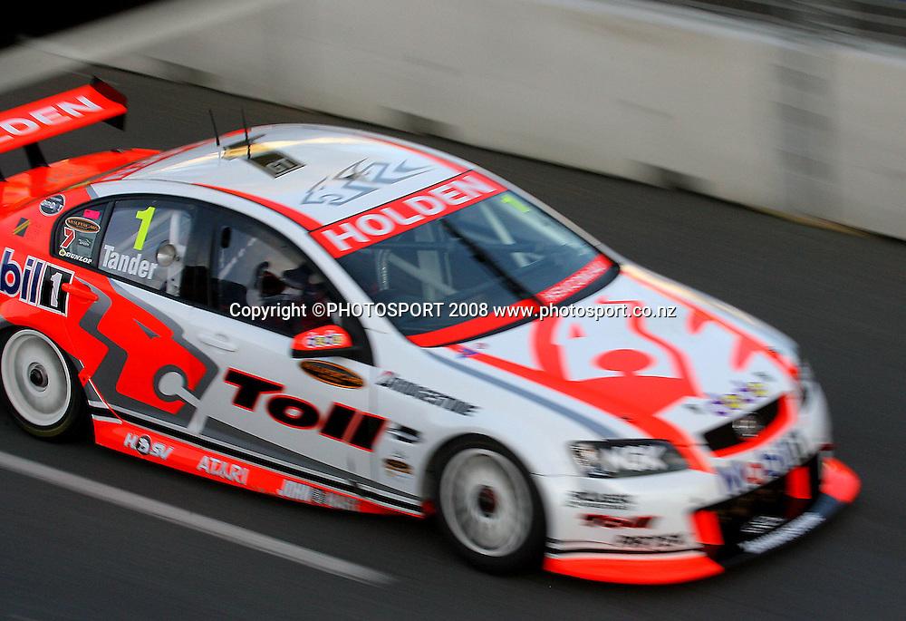 Garth Tander.<br /> Aussie V8 Supercars Round Three Qualifying. Hamilton 400, Frankton, Hamilton. Saturday, 19 April 2008. Photo: Dave Lintott/PHOTOSPORT