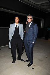"""Left to right, artist ROBIN RHODE and JAY JOPLING at an exhibition of work by Andy Warhol entitled """"Other Voices, Other Rooms"""" at The Hayward Gallery, Southbank Centre, London SE1 on 6th October 2008."""