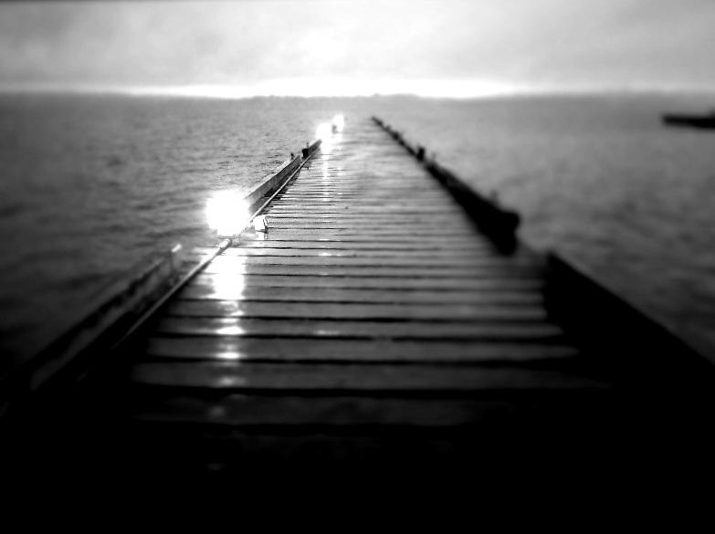 Winter dock on Lake Washington, Kirkland.