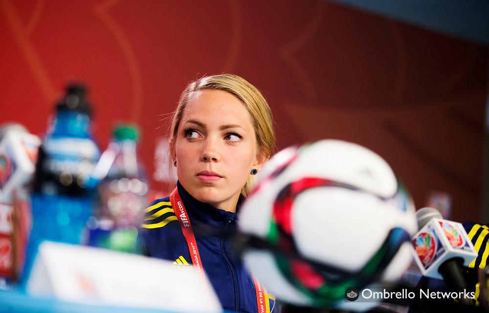 OTTAWA 20150619<br /> LANSDOWNE ARENA PRESSKONFERENS SVERIGE<br /> ELIN RUBENSSON