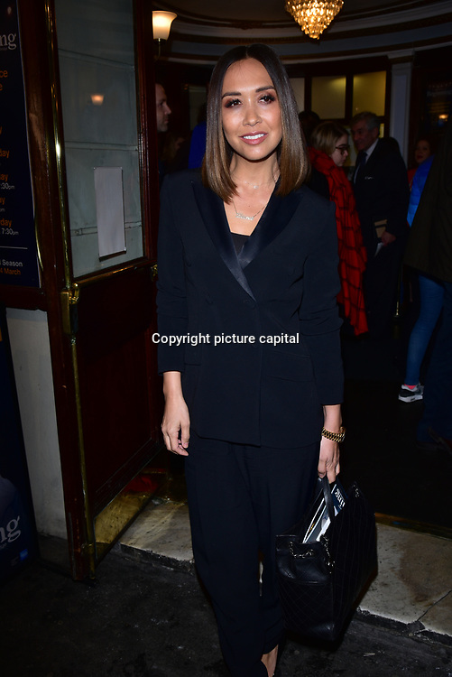 London, England, UK. 23 January 2018. Myleene Klass Arrivers at Beginning - press night at Ambassadors Theatre.