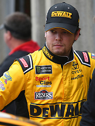 February 23, 2019 - Hampton, GA, U.S. - HAMPTON, GA - FEBRUARY 23: Erik Jones, Joe Gibbs Racing, Toyota Camry DeWalt (20) watches practice in the garage for the Monster Energy Cup Series QuikTrip Folds of Honor 500 on February 23, 2019, at Atlanta Motor Speedway in Hampton, GA.(Photo by Jeffrey Vest/Icon Sportswire) (Credit Image: © Jeffrey Vest/Icon SMI via ZUMA Press)