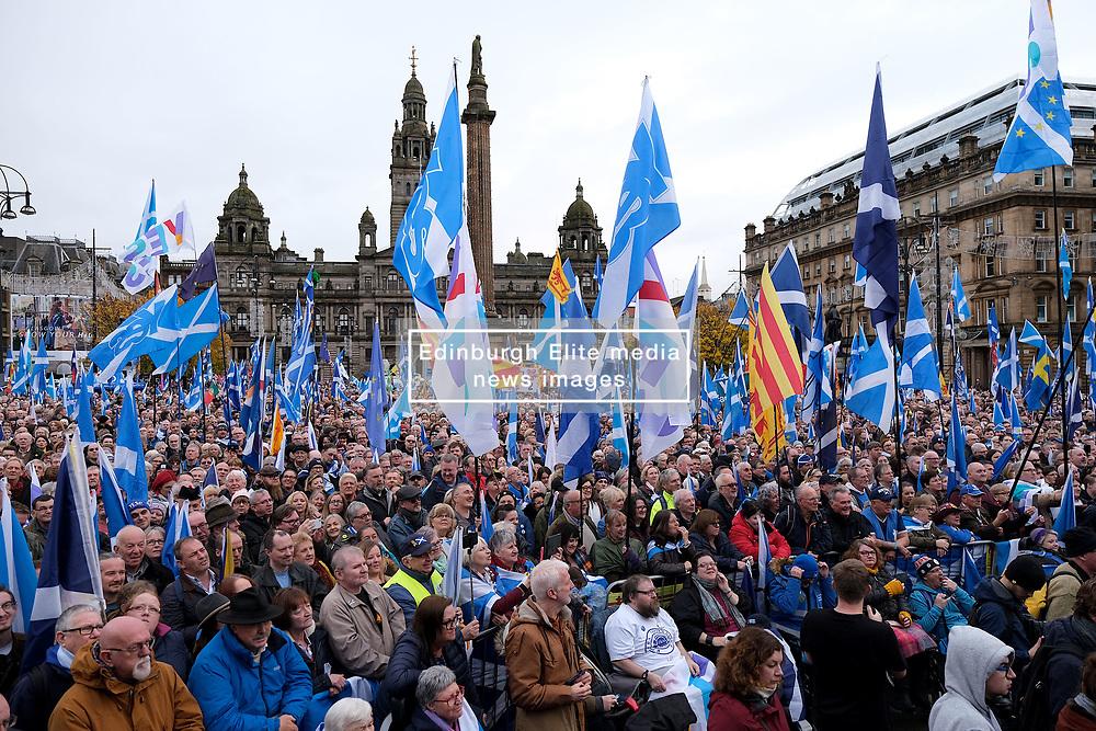 Independence Rally, Glasgow, Saturday 2nd November 2019<br /> <br /> Pictured: Crowd shot<br /> <br /> Alex Todd   Edinburgh Elite media
