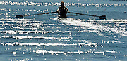 Varese,  ITALY. 2012 FISA European Championships, Lake Varese Regatta Course. ..NED M2-, Bow Rogier BLINK and Mitchel STEENMAN move away from the start in their heat of the Men's pair...{TIME  {DOW}  14/09/2012.....[Mandatory Credit Peter Spurrier:  Intersport Images]  ..2012 European Rowing Championships ..Rowing, European,  2012 010673.jpg....
