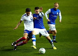 Gary Hooper of Sheffield Wednesday battles for the ball with Bradley Barry of Chesterfield - Mandatory by-line: Robbie Stephenson/JMP - 08/08/2017 - FOOTBALL - Hillsborough - Sheffield, England - Sheffield Wednesday v Chesterfield - Carabao Cup