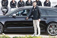 Nacho Fernandez of Real Madrid CF poses for a photograph after being presented with a new Audi car as part of an ongoing sponsorship deal with Real Madrid at their Ciudad Deportivo training grounds in Madrid, Spain. November 23, 2017. (ALTERPHOTOS/Borja B.Hojas)