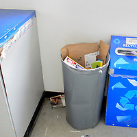 012915       Cable Hoover<br /> <br /> Litter scatters around a waste basket at the Gallup Post Office Jan. 29.