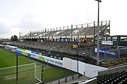 General view inside Home Park Stadium of the Mayflower stand which is being rebuilt before the EFL Sky Bet League 1 match between Plymouth Argyle and Accrington Stanley at Home Park, Plymouth, England on 22 December 2018.