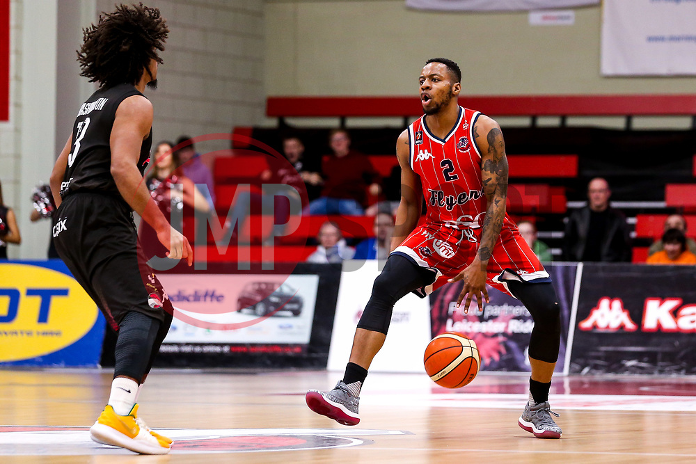 Panos Mayindombe of Bristol Flyers - Photo mandatory by-line: Robbie Stephenson/JMP - 11/01/2019 - BASKETBALL - Leicester Sports Arena - Leicester, England - Leicester Riders v Bristol Flyers - British Basketball League Championship