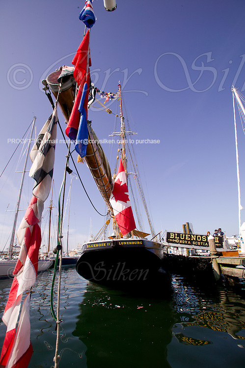 Tall ships at Goat Island Marina. Bluenose II