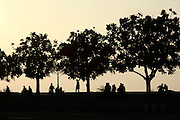 Sunset along Queen's Necklace, Marine Drive, in Mumbai, India