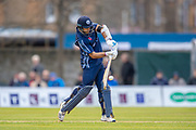 Scotland captain, Kyle Coetzer plays a shot, which is caught meaning he is out on 79 runs during the One Day International match between Scotland and Afghanistan at The Grange Cricket Club, Edinburgh, Scotland on 10 May 2019.