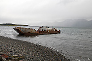 Chile. Puerto Williams  Puerto Williams - fishermen port / Puerto williams la ville la plus australe de la planete  Puerto Williams - Chili
