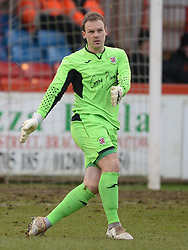 DANNY LEWIS GOALKEEPER BRACKLEY TOWN, Brackley Town FC v Barrow AFC, Buildbase FA Trophy Saturday 13th January 2018, SCORE 0-0, Photo:Mike Capps/Kappa Sport Pictures