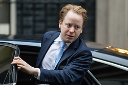 © Licensed to London News Pictures. 31/01/2017. London, UK. Paymaster General Ben Gummer  arriving at Downing Street for a cabinet meeting this morning. Photo credit : Tom Nicholson/LNP