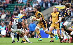 Jon Fisher of Bristol Rugby runs with the ball - Mandatory by-line: Robbie Stephenson/JMP - 03/09/2016 - RUGBY - Twickenham - London, England - Harlequins v Bristol Rugby - Aviva Premiership London Double Header