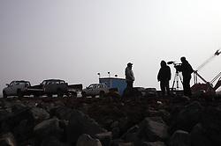 USA ALASKA ST PAUL ISLAND 9JUL12 - Video interview of an Aleut fisherman in the harbor of St. Paul island in the Bering Sea, Alaska.......Photo by Jiri Rezac / Greenpeace....© Jiri Rezac / Greenpeace
