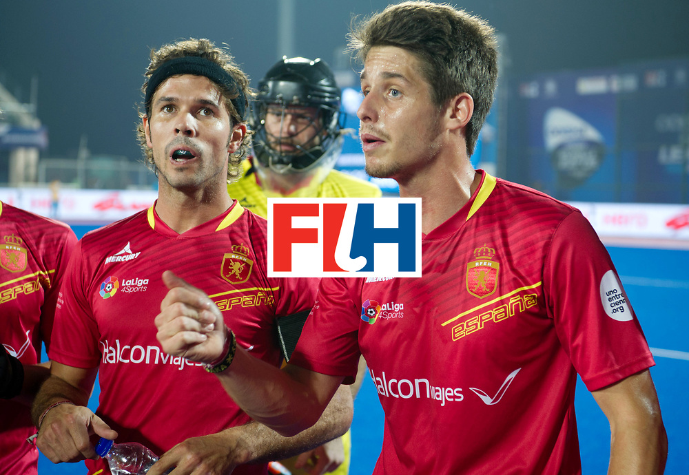 Odisha Men's Hockey World League Final Bhubaneswar 2017<br /> Match id:11<br /> Argentina v Spain<br /> Foto: Marc Salles (Esp) speech in the break<br /> COPYRIGHT WORLDSPORTPICS FRANK UIJLENBROEK