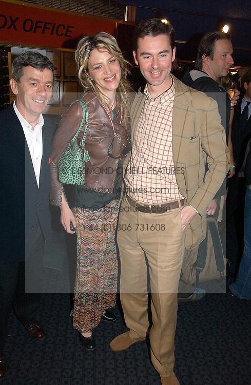 Left to right, ULTAN GUILFOYLE, MARTHA FIENNES and GEORGE TIFFIN at a private screening of 'Sketches of Frank Gehry in association with jewellers Tiffany held at the Curzon Cinema, Mayfair on 10th May 2006 followed by a party at Nobu Mayfair, Berkeley Street.<br />