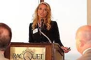 Erin Hoeflinger, president of Anthem Blue Cross and Blue Shield gives the keynote address during the Dayton Area Chamber of Commerce Breakfast Briefing at the Dayton Racquet Club in downtown Dayton, Friday, September 14, 2012.