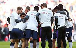 Jesus Perez gives a pre match pep talk - Mandatory by-line: Arron Gent/JMP - 02/03/2019 - FOOTBALL - Wembley Stadium - London, England - Tottenham Hotspur v Arsenal - Premier League