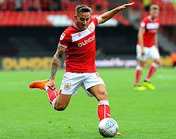 Josh Brownhill of Bristol City shoots at goal - Mandatory by-line: Nizaam Jones/JMP- 18/08/2018 - FOOTBALL - Ashton Gate Stadium - Bristol, England - Bristol City v Middlesbrough - Sky Bet Championship