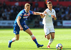 Darren Fletcher of Stoke City applies pressure on Tom Carroll of Swansea City-Mandatory by-line: Nizaam Jones/JMP- 13/05/2018 - FOOTBALL - Liberty Stadium - Swansea, Wales - Swansea City v Stoke City - Premier League