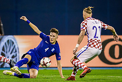 Panagiotis Retsos of Greece during the football match between National teams of Croatia and Greece in First leg of Playoff Round of European Qualifiers for the FIFA World Cup Russia 2018, on November 9, 2017 in Stadion Maksimir, Zagreb, Croatia. Photo by Ziga Zupan / Sportida