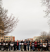 On Feb 1, supporters of the DACA program stood together. Photo by Gavin Doremus.
