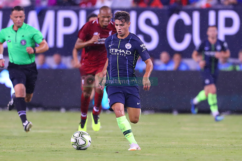 July 25, 2018 - East Rutherford, NJ, U.S. - EAST RUTHERFORD, NJ - JULY 25:  Manchester City midfielder Brahim Diaz (55) during the first half of the International Champions Cup Soccer game between Liverpool and Manchester City on July 25, 2018 at Met Life Stadium in East Rutherford, NJ.  (Photo by Rich Graessle/Icon Sportswire) (Credit Image: © Rich Graessle/Icon SMI via ZUMA Press)
