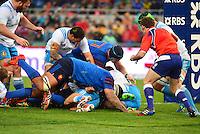 Essai Mathieu BASTAREAUD - 15.03.2015 - Rugby - Italie / France - Tournoi des VI Nations -Rome<br /> Photo : David Winter / Icon Sport